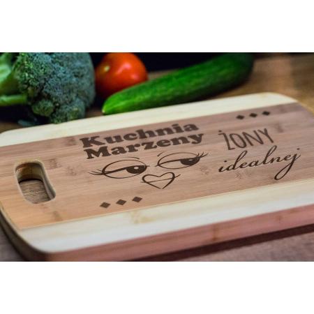 Deska Bambusowa Kuchnia Żony Idealnej